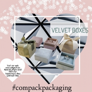 Velvet collection recovered with velvet in four colors will enhance all your Jewelry. . . #compackpackaging #compackestuches #compackboxes #estuchesjoyeria #jewelryboxes #astuccigioelli #etuibijoux #sanvalentinestuches #valentinesdaybox