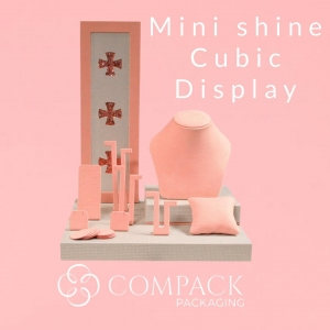 Mini Shine cubic display ready for summer lovers.  Available in many colors and sizes. . . . #compackdisplays #jewelrydisplays  #escaparatesjoyeria #vitrinegioelli