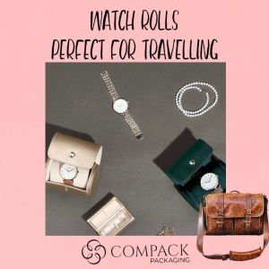 Watch roll perfect for traveling. . . #compackpackaging #compackrolls #watchbox