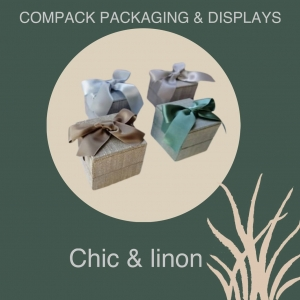 Our linen collections are made with 100% natural linen. We have a wide range of products manufactured with it: Cases, Showcases, Trays, Rolls. For all those jewelers who are concerned about the environment. . . #compacklinon #compackpackaging #jewelryboxes #jewelrypackaging  #estuchesjoyeria