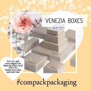 Venezia Collection is ready for all the jewelers who wants to anticipate Valentine's day celebration. . . #compackpackaging #compackboxes #compackestuches #estuchesjoyeria #jewelryboxes #etuibijoux #astuccigioelli