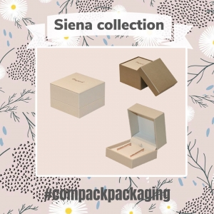 Siena Boxes  manufactured with high quality materials are perfect for those jewelers who like the elegance and exclusivity. . . #compackpackaging #compackboxes #estuchesjoyeria #jewelryboxes #jewelrypackaging #astuccigioelli #etuibijoux #schmukdesign