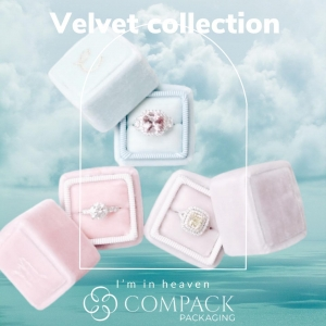 Velvet collections are perfect for those jewelers who loves the elegance  touch of velvet material. . : #compackpackaging  #compackboxes #compackestuches #velvetjewelryboxes #jewelryboxes #astuccigioelli #etuibijoux #schmukdesign