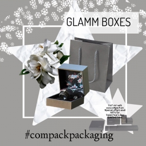 Glamm boxes with interiors customized are perfect for those Jewelers who like that their packaging looks different and being uniquez. . . #compackpackaging #compackcustomizepackaging #customizejewelryboxes