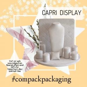 Capri  Display ready for Valentine's jewelry. . . #compackdisplays #jewelrydisplays #escaparatesjoyeria #vitrinegioelli #vitrinbijoux