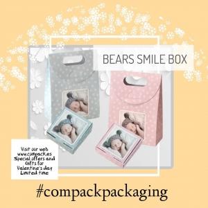 Bears Smile box is perfect for packing baby Jewelry. . . #compackpackaging  #estuchesjoeyeria #babyjewelrybox #astuccigioelibanbini #etuibijouxenfant