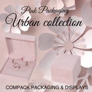 Urban boxes are an elegant and romantic collection, suitable for more exclusive jewelry. . . #compackpackaging  #compackboxes #jewelryboxes #jewelrypackaging #estuchesjoyeria #packagingjoyeria