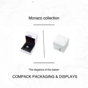 The elegance of the classic. Our series of Monaco boxes will wear all your jewelry. . . #compackpackaging #compackboxes