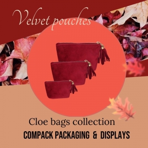 Cloe pouches  manufactured in Velvet are a ideal packaging for all Christmas Events. These bags those who receive always keep them. They are perfect for transport or store their jewels. . . #compackpackaging #compackbolsas #compackpouches #jewelrypackaging #jewelrypouches #bolsasjoyeria #bijouxsac