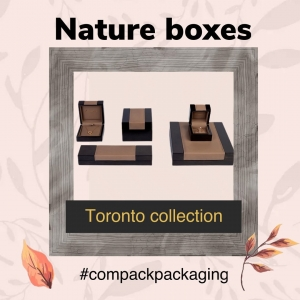 For those costumers who likes the Nature the Toronto collection is perfect. This series will enhance all yours jewelry pcs. . . . #compackboxes #compackeco #compackpsckaging #ecopackaging #jewelryboxes #jewelrypackaging #estuchesjoyeria #ecoembalajes