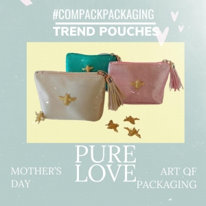 Pack your mother's day jewelry with our collection of Trend Bags. It is a guaranteed success. . . #compackpackaging  #compackpouches #compackbolsas #jewelrybags #bolsasjoyeria  #sachettigioelli #pochettbijoux #mothersdaygift #mothersdaypackaging