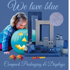 Blue color is trending color for this winter. We can manufacture all the products you need. . . #compackdisplays #compackescaparates  #compackvitrine