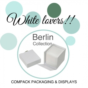 White color is synonimus of elegance. Dress all your jewelry with our Berlin boxes. . #compackpackaging #compackboxes #compackestuches #jewelryboxes #jewelrypackaging #estuchesjoyeria #whitepackaging #estuchesjoyeriablancos
