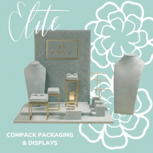 Our Elite Display will help you to dress your window shops. . . #compackdisplays #compackescaparates #jewelrydisplays #escaparatesjoyeria